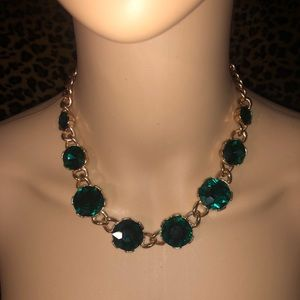 EUC emerald colored gold Aldo necklace